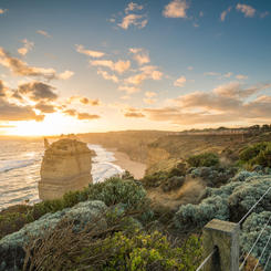 Sonnenuntergang an der Great Ocean Road