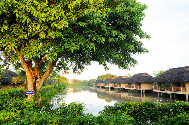 Bungalows am Mekong