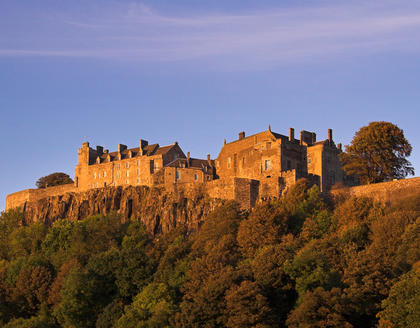 Stirling Castle im Abendrot