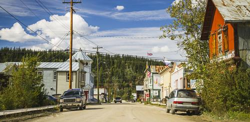 Downtown von Dawson City