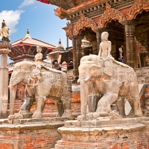 Tempel am Durbar Sqaure in Patan