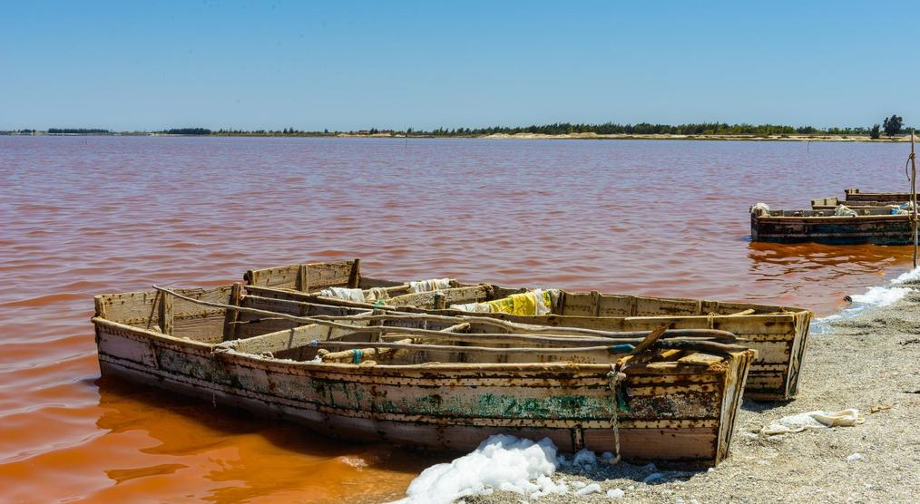 Boote am Lac Rose, Senegal