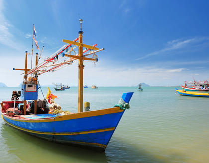 Traditionelles Boot in Hua Hin