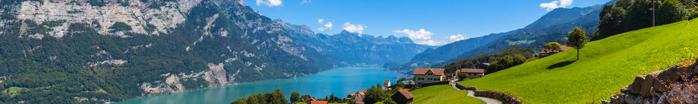 Panoramasicht Walensee