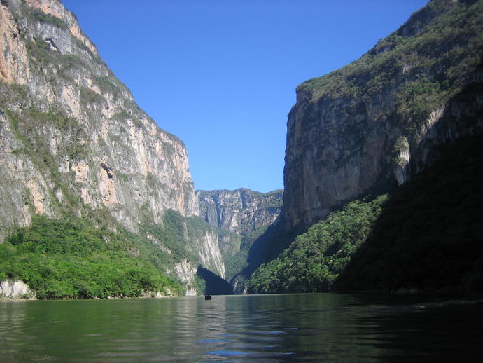 Sumidero Canyon, Einfahrt in den Canyon