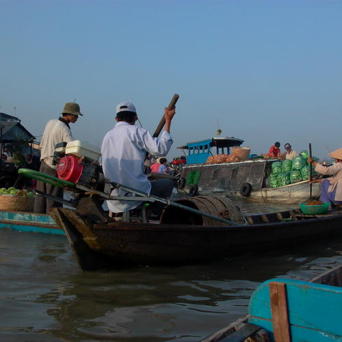 Boote im Mekong Delta