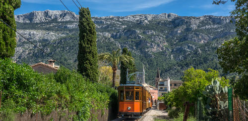 traditionelle Eisenbahn in Sóller
