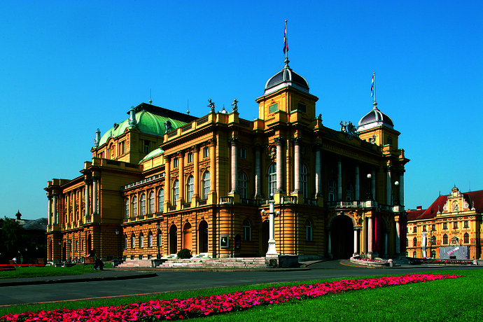 Kroatisches Nationaltheater in Zagreb