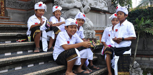 Kinder in Ubud