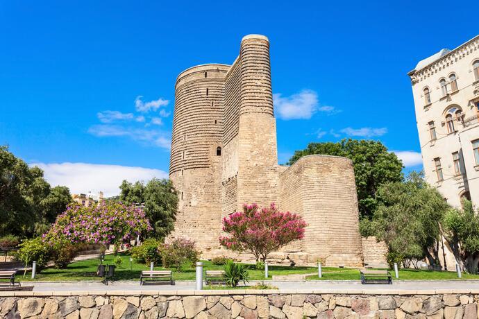 Baku Malerische Metropole Am Kaspischen Meer Erleben