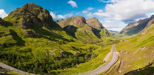 Three Sisters in Glen Coe