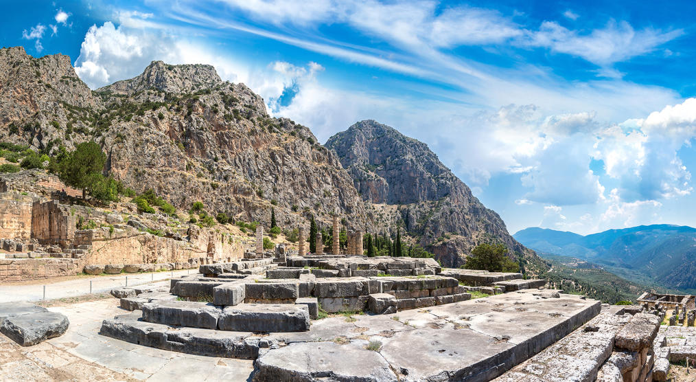Apollo-Tempel in Delphi