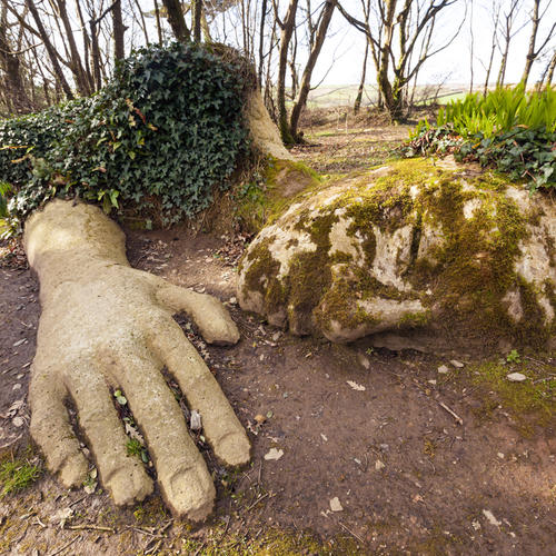 Mud Maiden in den Lost Gardens of Heligan