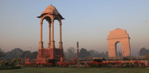 Das berühmte India Gate in Delhi