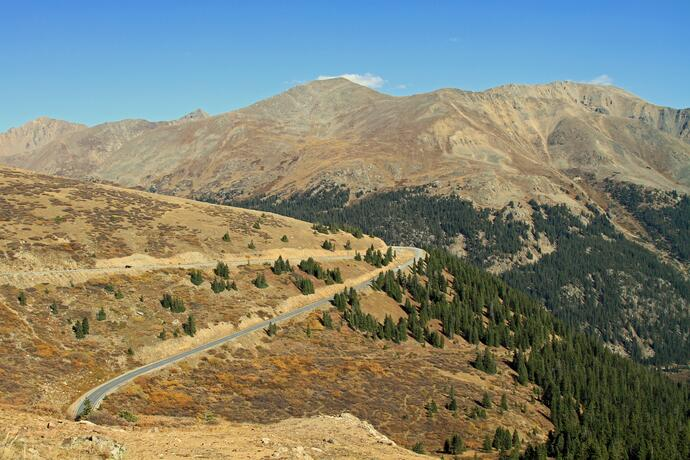 Independence Pass in Colorado