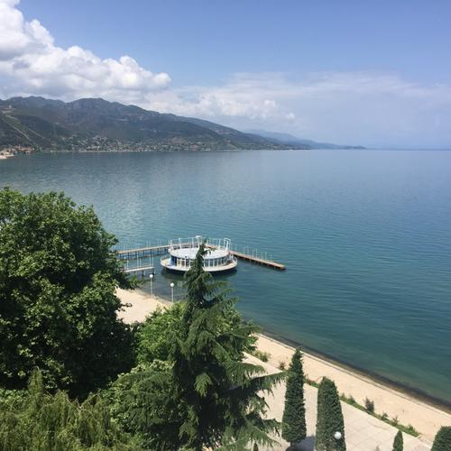 Ohrid See in Pogradec