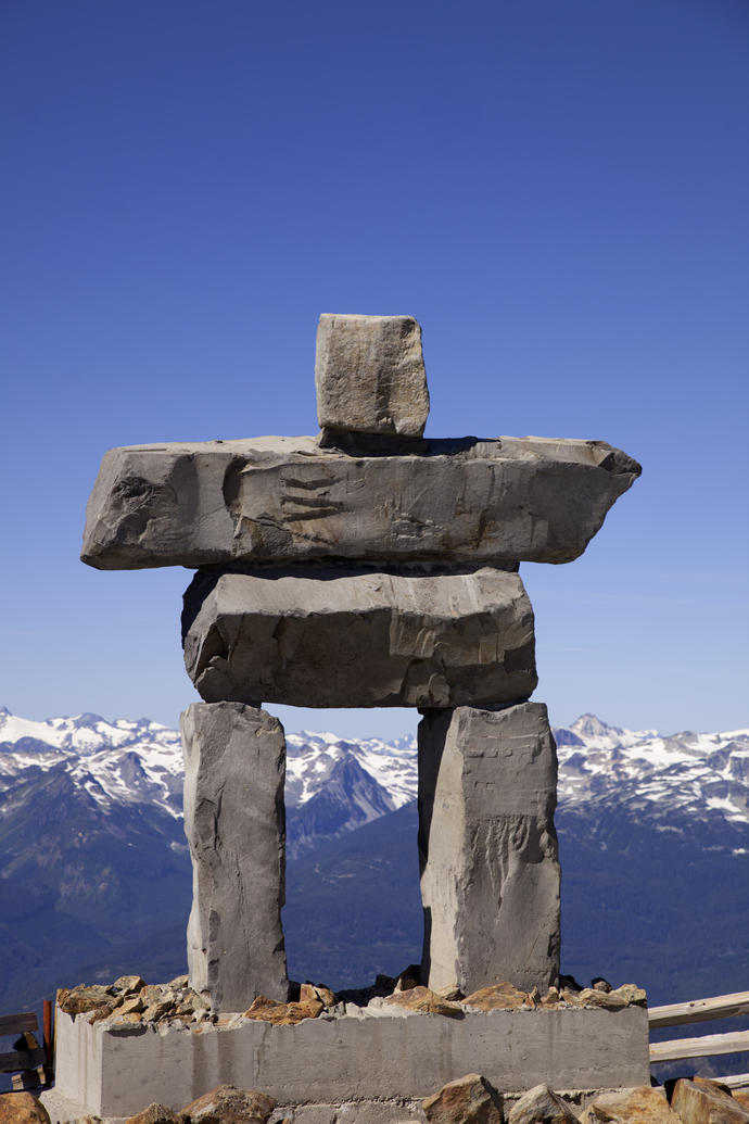 First Nation Monument auf dem Whistler
