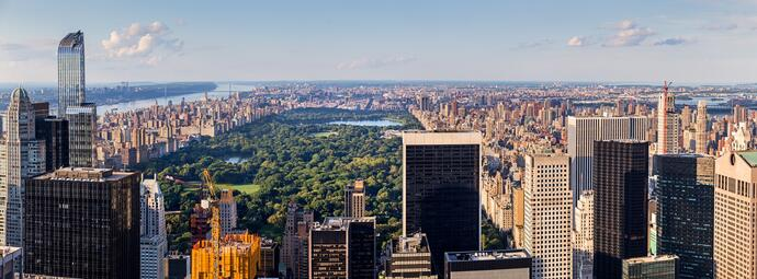 Panorama Manhattan mit Central Park