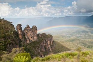 Regenbogen in den Blue Mountains