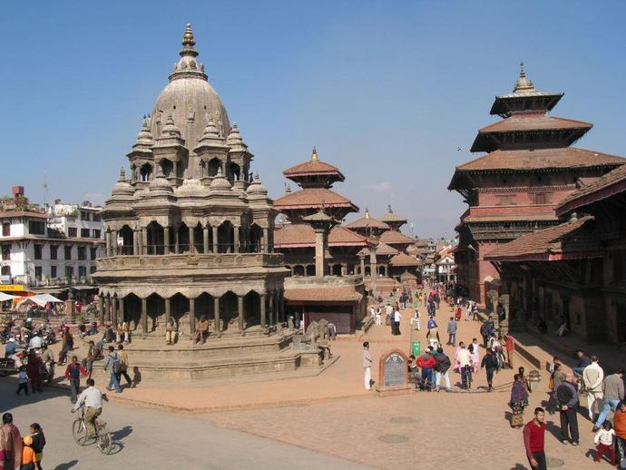 Der Durbar Square in Patan