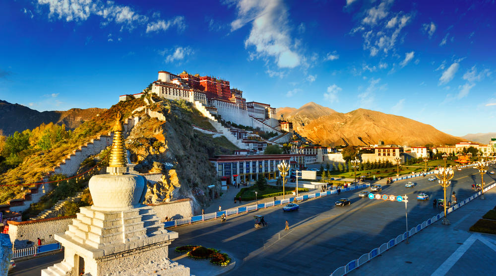 Tibet is west of the Central China plain, and within mainland China, Tibet is regarded as part of 西部 (Xībù), a term usually translated by Chinese media as